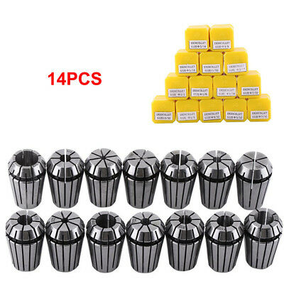 "14Pcs ER20 1/16""-1/2"" Spring Collet Kit for CNC Milling Lathe Chuck Tool Holder"
