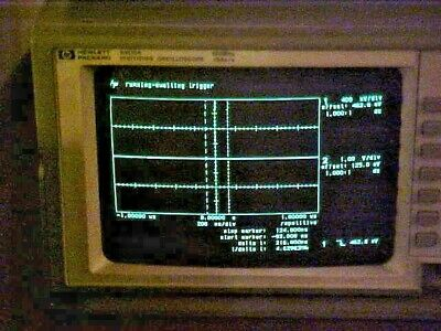 HP 54510A DIGITIZING OSCILLOSCOPE 250 MHz 1GSa/s WITH MANUALS AND PROBES