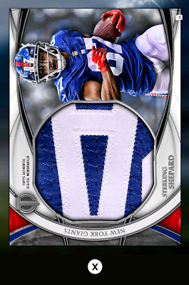 Sterling Shepard-Tribute Drop 3-Silver Jumbo Relic-Topps Huddle 19 Digital