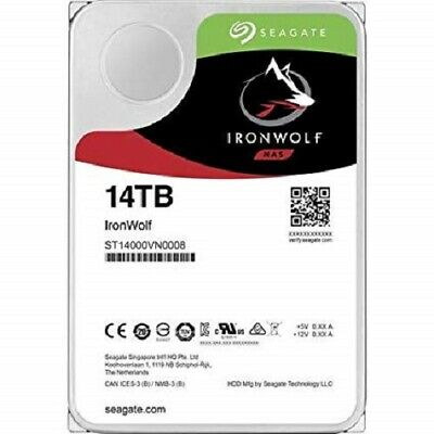"Seagate Ironwolf 14TB SATA-6Gb 7200rpm 256Mb 3.5"" NAS Hard Drive ST14000VN0008"