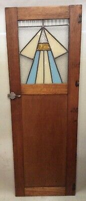 Art Deco Oak/Leadlight Door