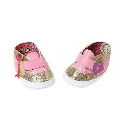 Zapf Creation Baby Annabell Doll Shoes - Gold & Pink Trainers