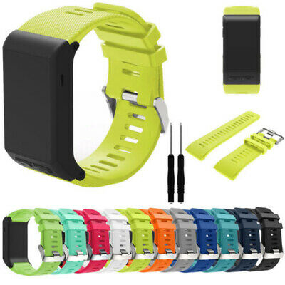 Silicone Wristwatch Bands Straps For Garmin Vivoactive HR Smart + Install Tools