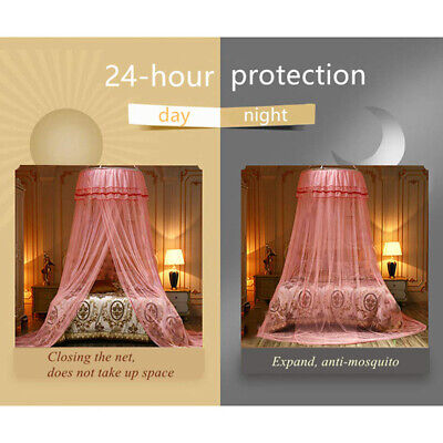 Princess Bed Mosquito Net Round Lace Curtain Canopy Dome Summer Mosquito Net