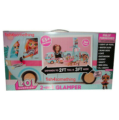 LOL SURPRISE! GLAMPER 2-in-1 CAMPER / DOLL HOUSE with 55+ SURPRISES - PRE-ORDER