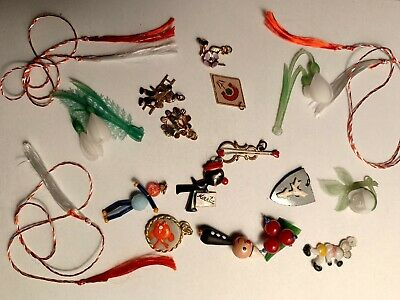 2x ROMANIAN Vintage MARTISOR MARTIE- from '80s AMULET ANCIENT SPRING TRADITION