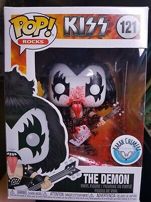 RARE CUSTOM Funko Pop Vinyl The Demon 121 KISS Alive BLOODY CHASE Gene Simmons