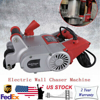 220V 1100W Electric Wall Chaser 30MM x 30MM Red Concrete Groove Cutter Machine