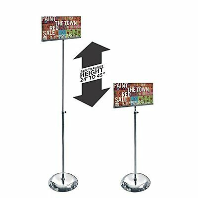 Clear Acrylic Sign Holder 11W x 7H Inches with Adjustable Pedestal Stand