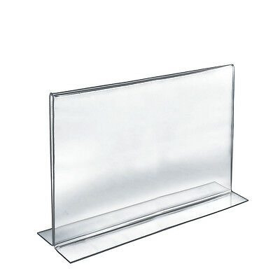 Acrylic Clear 2 Sided Sign Holder 14W x 11H Inches - Lot of 10