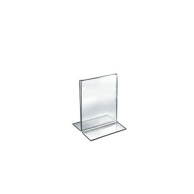 Double-Foot Two Sided Sign Holder 4W x 6H Inches - Box of 10