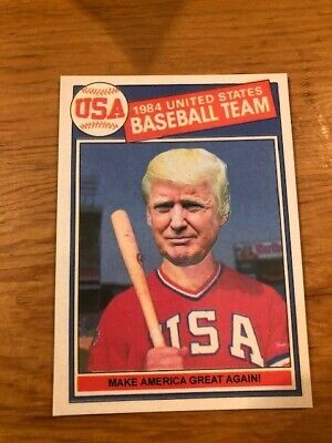 1985 Topps Mark McGwire Style DONALD TRUMP President USA ACEO MAGA MINT Card