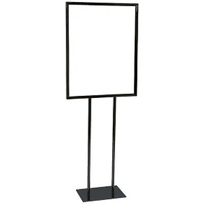 Floor Standing Sign Holder 22x28 Inches in Black finish