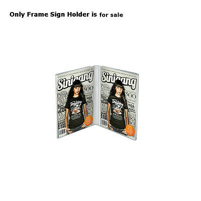 Clear Acrylic Dual Frame Sign Holders 4W x 6H Inches - Count of 10