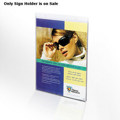 Clear Acrylic Vertical Wall Mount Sign Holder 17W x 22H Inches- Pack of 10