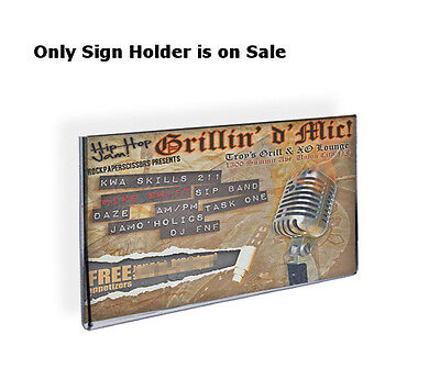 Acrylic Clear Wall Mount Sign Holder 7W x 5H Inches w/Adhesive Tape -Count of 10