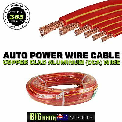 Standard CCA Primary Wiring Grounding Wire Cable Auto Boat Electric Battery DIY