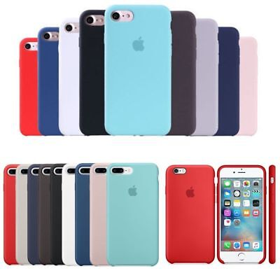UltraThin Original Genuine Silicone/Leather Case Cover For iPhone X 6s 7 8 Plus