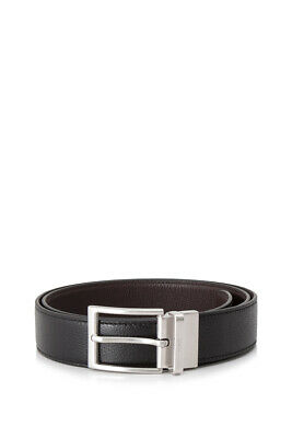 Tod's Reversible Leather Belt  (Black, Brown; grain leather)