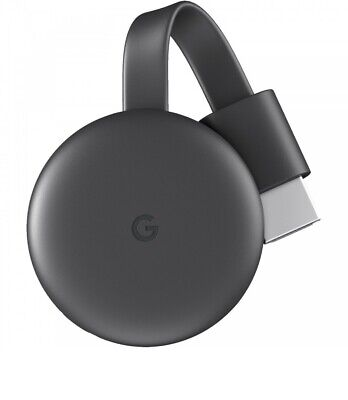 GOOGLE Chromecast Streaming Player 3rd Generation Streaming Player New