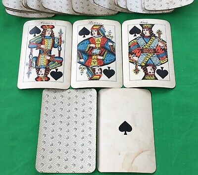 Old Antique 19th Cent JOSEF GLANZ Large WIENERBILD Playing Cards Kartenspielen 2