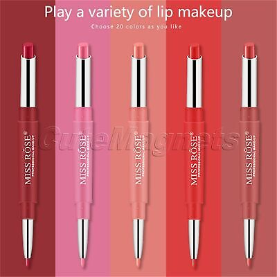 Miss Rose Double-End Matte Lipstick Makeup Gloss Beauty Cosmetic Long Lasting