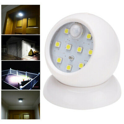 Motion Activated Cordless Sensor COB Light Indoor Outdoor Garden Wall Patio Shed
