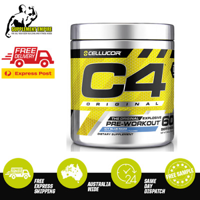 Cellucor C4 BLUE RASPBERRY Flavour ORIGINAL ID Pre Workout Preworkout 60 serves