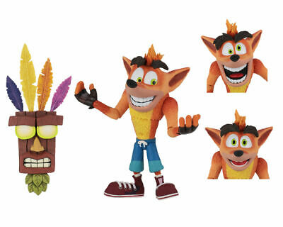 NECA Crash Bandicoot Ultra Deluxe Action Figure Aku Aku Mask