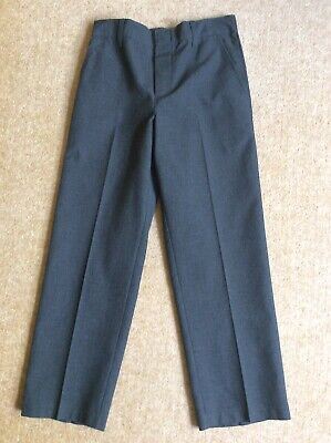 4 Pairs Of Marks & Spencer Easy Dressing Grey School Trousers Age 7-8