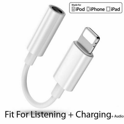 For iPhone 7 8+ XS Lightning to 3.5mm AUX Headphone Jack Audio Cable Adapter Lot
