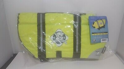 Dog Lifejacket Large Neon Yellow Life Vest By Paws Aboard  #1500