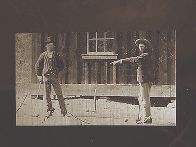 Billy the Kid Croquet Match closeup of the $5 Million? tintype 344RP
