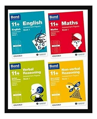 Bond 11+ Plus 10-11 Year Assessment Papers 4 Book English Maths Verbal & Non NEW