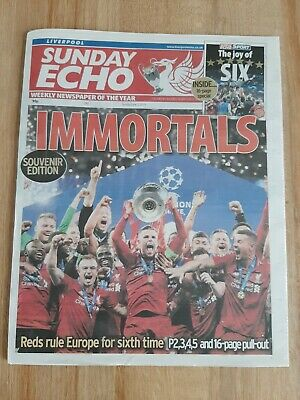 Liverpool Echo LFC Champions League Souvenir Edition with 16-page pullout