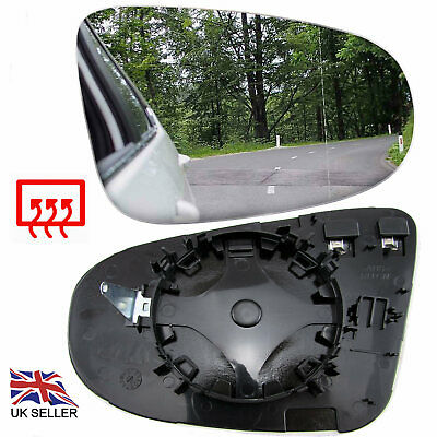 Vw Golf Mk6 2009-12 Wing Mirror Glass Heated Convex Right Driver Offside