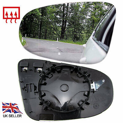 Vw Golf Mk6 2009-12 Wing Mirror Glass Heated Convex Left Nearside Passenger