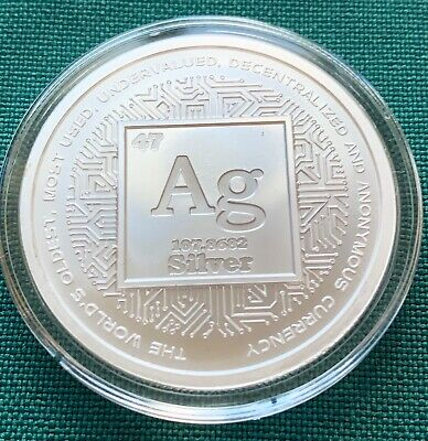 1 oz 2019 Silver Crypto BU - Crypto Series #6 Silver Shield 999 + Airtite NO COA