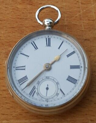Antique Victorian 1871 London Fully Silver Hallmarked Fusee Working Pocket Watch