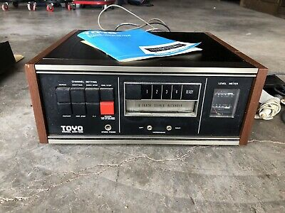 Toyo 8 Track Player and Recorder CHR-335 Tested & Working Properly - CLEAN