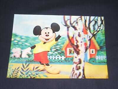 RARE VINTAGE DISNEY MICKEY MOUSE & BAMBI LENTICULAR 3D PICTURE/ POST CARDS 1960s