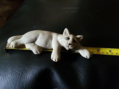 QUARRY CRITTERS CAT FIGURINE 'CHELSEA' 18.5 cms LONG WITH COA 2001