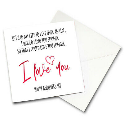 PERSONALISED HUSBAND HAPPY Anniversary Card Love 1St 2Nd 5Th