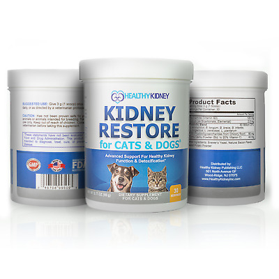 Kidney Restore Supplement For Cats & Dogs Renal Feline Canine 3 Pack Pets