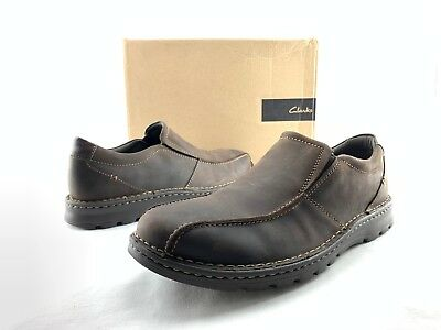 ae5f024e87 Clarks Vanek Step Men's Brown Leather Comfort Slip On Loafers US 13 M Shoes  C708