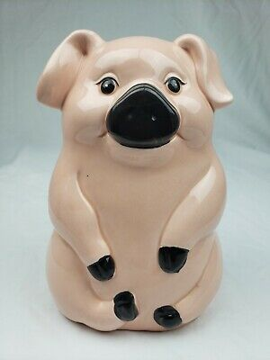 Vintage Piggy Bank Ceramic Figurine - Made in Taiwan