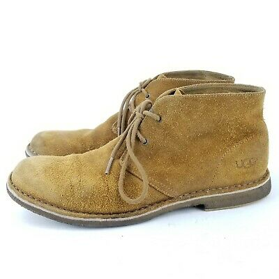 8877f632156 UGG MEN'S LEIGHTON Waterproof Leather Lace Up Chukka Boot Chestnut Size 11