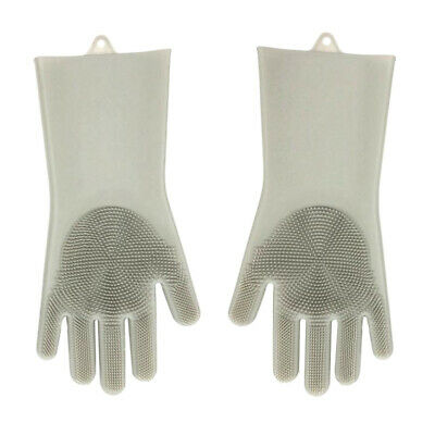 1pc Silicone Magic Cleaning Brush Gloves with Scrubber Dish Washing Mitten