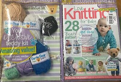Love Knitting For Baby Magazine Issue #73 - April 2019 With Teddy Kit ~