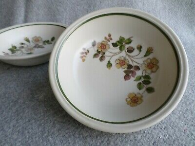 """M&S Marks & Spencer Autumn Leaves Set of 4 x Cereal Soup Bowl Bowls Dish 6.5"""""""
